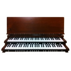 2-Manual Red Walnut Key Cheeks with Music Rest