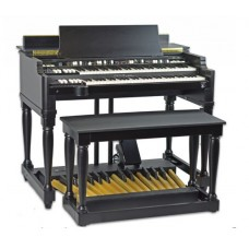 Viscount Legend Classic organ, with Stand, Bench, & 25n Pedalboard (black)